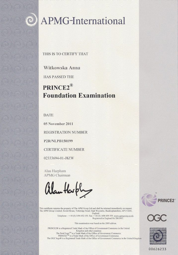 Prince 2 Foundation Examination
